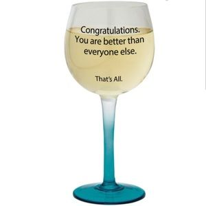 NWT That's All brand New WINE GLASS funny gift